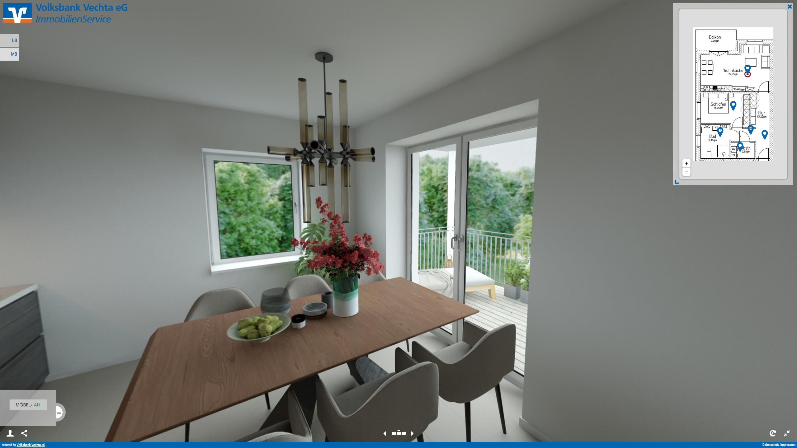 360° Tour Penthouse Interface CMS